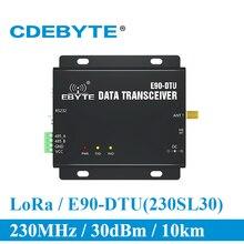 E90 DTU 230SL30 LoRa 1W módem RS232 RS485 230MHz RSSI de IoT vhf Módulo Transceptor Inalámbrico 30dBm transmisor y receptor
