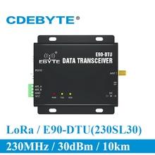 E90 DTU 230SL30 Lora 1W MODEM RS232 RS485 230MHz RSSIรีเลย์IOT VHFไร้สาย 30dBmเครื่องส่งสัญญาณและตัวรับสัญญาณ