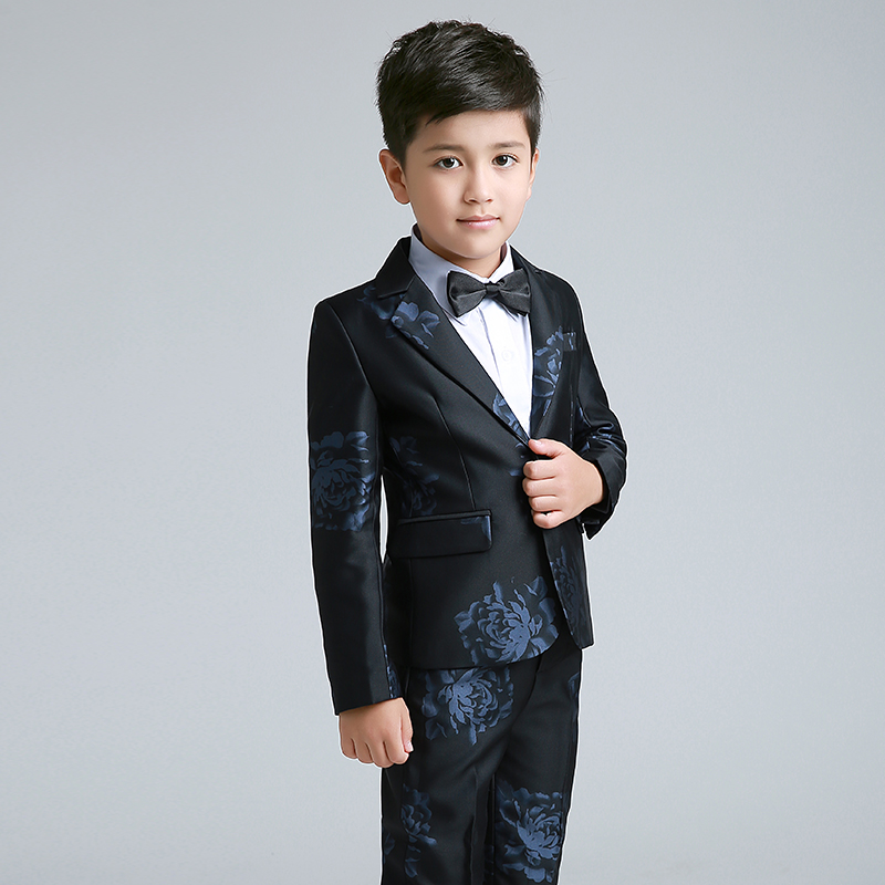 2018 spring nimble boys suits weddings kids prom suits floral wedding suits boys tuexdo children clothes boy formal classic