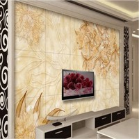 Beibehang Personalizado grande-escala murais arte telha de mármore waterjet parquet TV fundo papel de parede papel de parede para quarto
