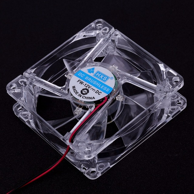 Easy Installed 80mm Fans 4 LED Blue for Computer Fan PC Case Cooling PC CPU Cooling Cooler Fan Quiet Type Hot Sale Transparent