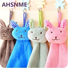 AHSNME cartoon rabbit image handkerchief variety of colors Coral cashmere material cute design children small towel 21 * 42cm