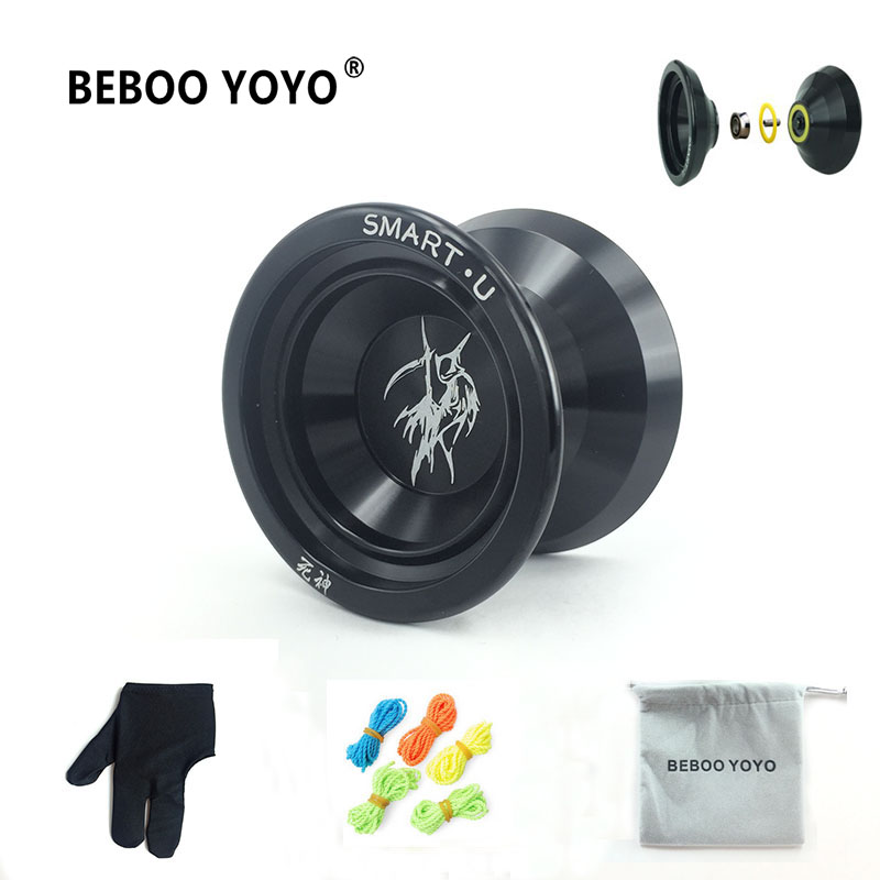 2017 New Metal Yoyo Professional Yoyo Set Yo yo + Glove + 3 String + Yoyos Bag S2 Yo-yo Classic Toys Diabolo Gift For Children beboo yoyo professional yoyo ball yo yo set kk bearing yo yo metal yoyo classic toys diabolo magic gift for children n11
