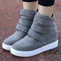 Fashion Women Casual Shoes Hidden Wedges Canvas Shoes  Ladies Platform Trainers High Heel Top Boots Chaussure Femme