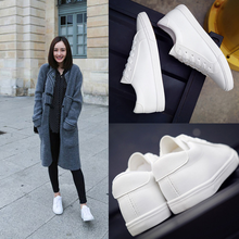Hot 2019 Spring/Autumn Women Shoes Flats Off White Shoes Brand Fashion Sneakers Lace-up Breathable Basic Casual Ladies Shoes цена 2017