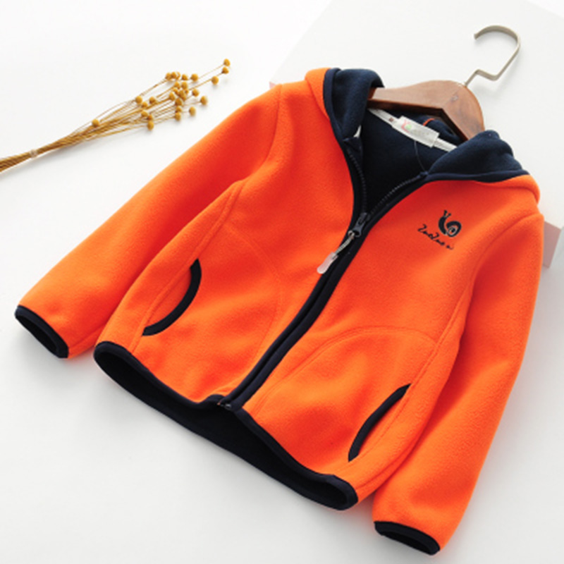 2018 spring autumn fleece children's jackets for girls child hoodies kids cardigan toddler coats for boys baby sweatshirts 2-6T  5