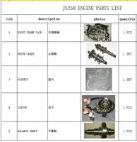Коленчатого вала/приводов/прокладки/статора/право Картера/баланс вал костюм для jianshe 250 5 loncin 250 F части двигателя 171FMM