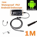 Hot Sale Special Offer 1M 7mm Lens USB Endoscope Waterproof 6 LED Inspection Borescope Tube Snake Camera For Android PC