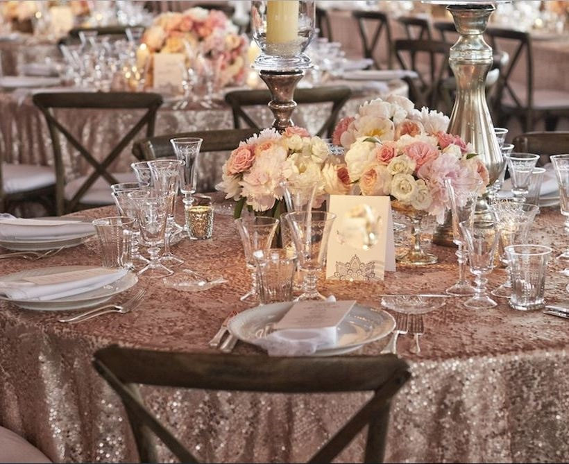 All Size Luxury Gold Sequin Table Cloth Wedding Party Decoration Silver Rose Tablecloth In Tablecloths From Home Garden On Aliexpress