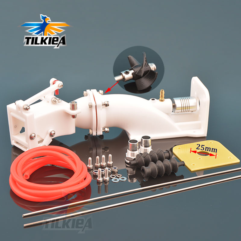 28mm Water Jet Boat Pump Spray Water Thruster With Moving Backwards Function 28mm Propeller w Coupling