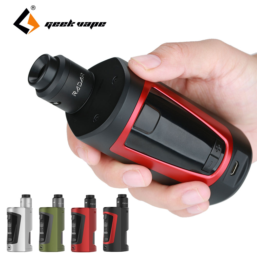 Original GeekVape GBOX Squonker 200W TC Kit with Radar RDA Tank Atomizer & 8ml Squonk Bottle Max 200W Output No 18650 Battery mutation x s style rda atomizer