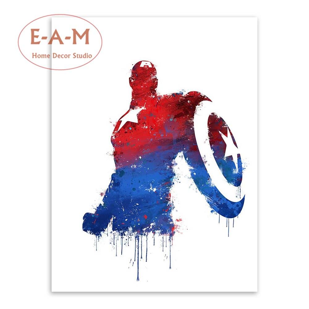 E-A-M Superheroes Splash Canvas İncəsənət Çap Rəsm Afişası - Ev dekoru - Fotoqrafiya 3