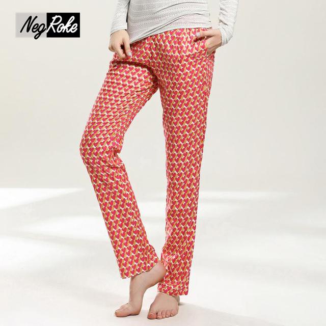 Preciosa Sping 100% mujeres del algodón del sueño bottoms simple casa sexy pantalones para las mujeres más el tamaño ocasional pijamas duermen pantalones