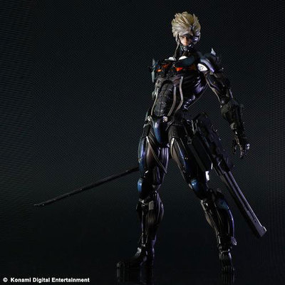 ФОТО High Quality!!! SQUARE ENIX PA Boss Metal Gear Solid Peace Walker RAIDEN 28cm PVC Action Figure Model Toys Gifts Figurines