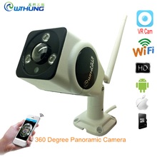Wifi IP Fisheye Panoramic Camera 1.3MP 2MP 3MP 3D VR 360 Degrees Bullet Outdoor Waterproof Support Two way Audio Remote Viewing