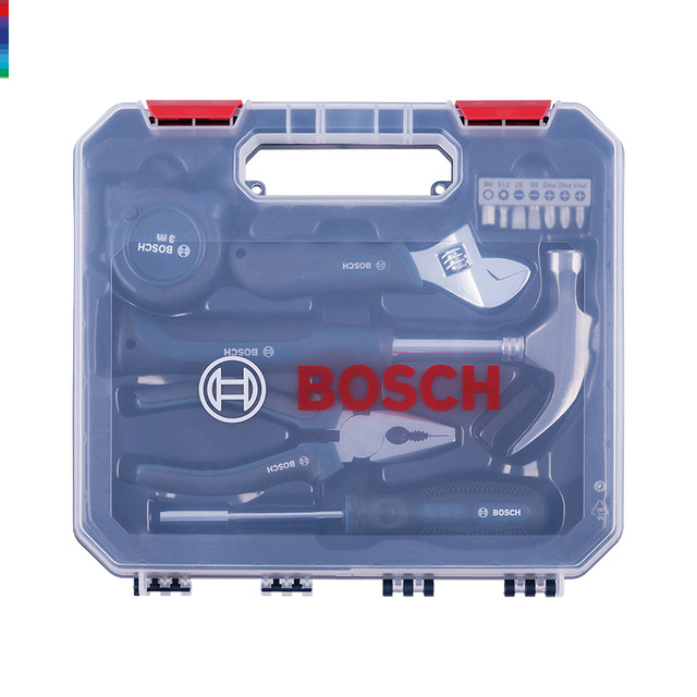 Household multi-functional hardware toolbox Small exquisite version of hand tools 12 sets Hardware box carpentry maintenance цена