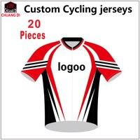 Брендовый производитель индивидуальная одежда для велоспорта mtb Индивидуальные Майки для велоспорта форма Майо Ciclismo/20 штук