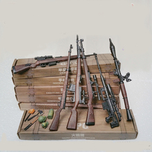 Newest 6 pcs/set 1:6 Finished Guns 38 Rifle 98K Soldiers Smoke Bomb Antitank Grenade OMAHAWK Dagger Model