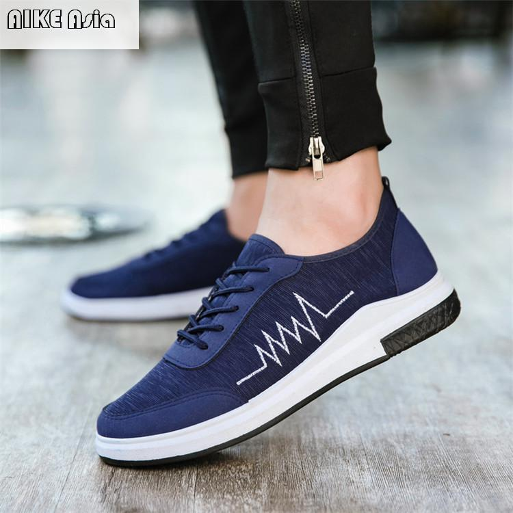 Men's Shoes Men's Casual Shoes Punctual Aike Asia2018 New All Seasons Cloth Shoes Mens Casual Shoes Breathable Fashion Soft Bottom Anti-skid Wear-resistant Flat Shoes Modern Design