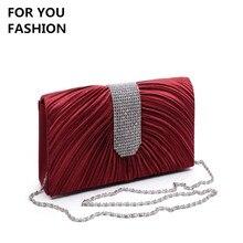 Kostenloser Versand New Fashion frauen Kupplung Luxus Bling Diamant Hochzeit Handtasche Schulter Umhängetasche