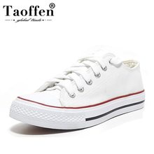 Купить с кэшбэком Taoffen Ladies Daily Casual Vulcanized Shoes 5 Colors Women Fashion Cross Strap Vacation Shoes Women Dating Footwear Size 35-39