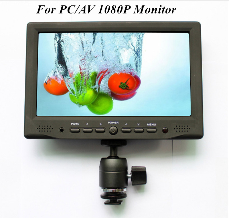 7 Inch Touch Screen 1080P LCD Monitor For PC/AV VGA HDMI Input