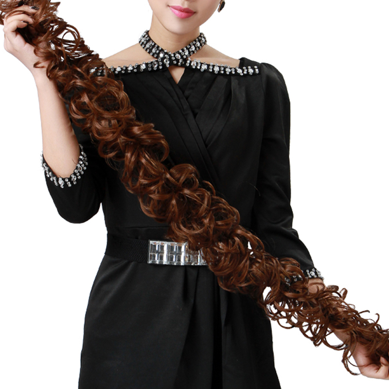 Aosiwig Curly Heat Resistant Synthetic Hair Chignons Elastic Scrunchie Extensions