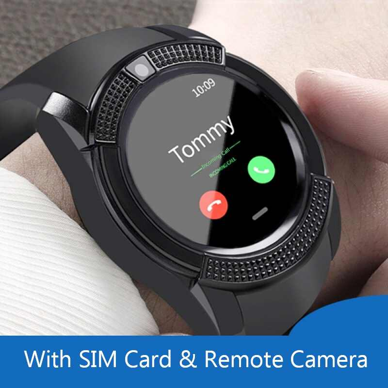 b31b309ffb4 Original V8 Smart Watch Bluetooth Smartwatch Touch Screen Wristband With  Camera SIM Card Slot For Android