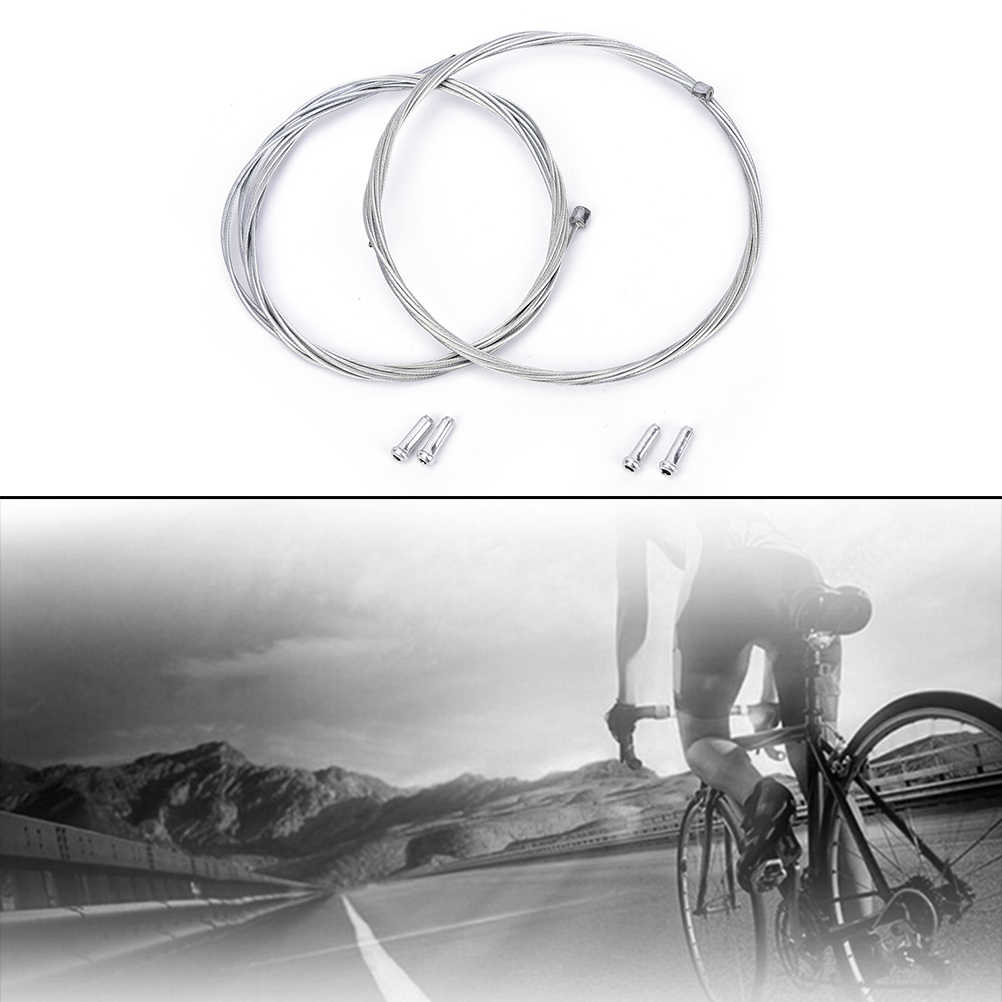 1set Bicycle Brake Line Tube Hose Shift Line Cable Wire Tube 2 Meter Bulk With 2 Cap high grade