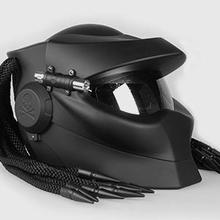 Motorcycle helmet predator predator helmet retro he