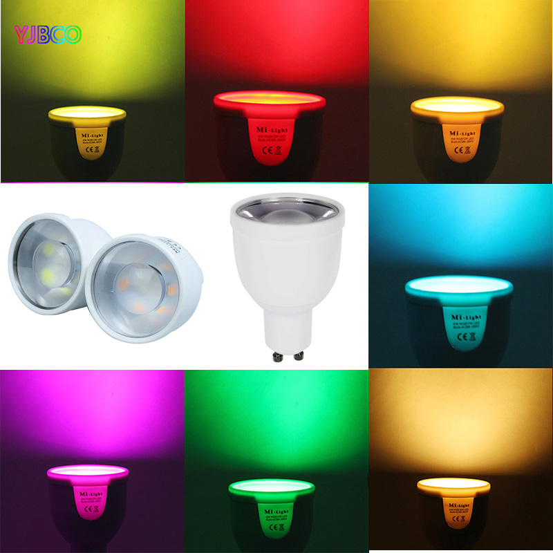 FUT018 2 4GHz 5W GU10 Smart Dimmable 220V series 86 265V RGBCW RGBWW LED Bulb Lamp Light FUT096 Remote Control in LED Bulbs Tubes from Lights Lighting