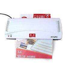 Профессиональный Термальность офисные горячей и холодной Ламинаторы машина для A4 документ фото блистерной упаковки Пластик Плёнки roll Ламинаторы