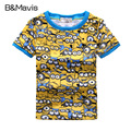 2-7Y New Boys T Shirt Minions Shirts Cotton Children T Shirts Summer Kids Clothes Top Print Girls Tops Tee Shirt Garcon
