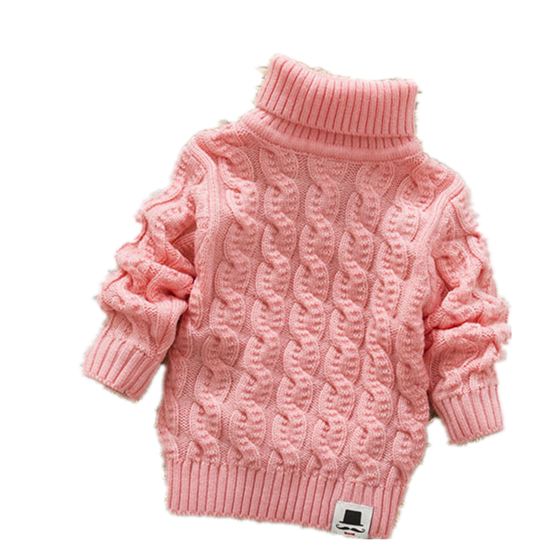 Boys Girls Turtleneck with Beard Label Solid Baby Kids Sweaters Soft Warm Sueter Infantil Autumn Winter Children's Sweater Coats 100%merino wool women solid knit turtleneck heaps collar pullovers sueter sweater top tunic jumper 2015 fall winter new