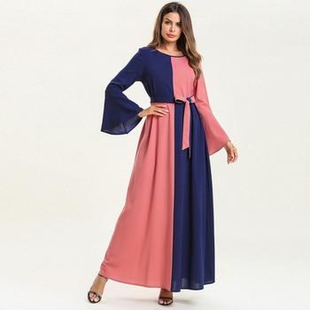 Vestidos 2019 femmes Caftan Abaya dubaï Hijab Robe musulmane Caftan Robe  Qatar émirats arabes unis Ramadan Tesettur Elbise turc vêtements islamiques