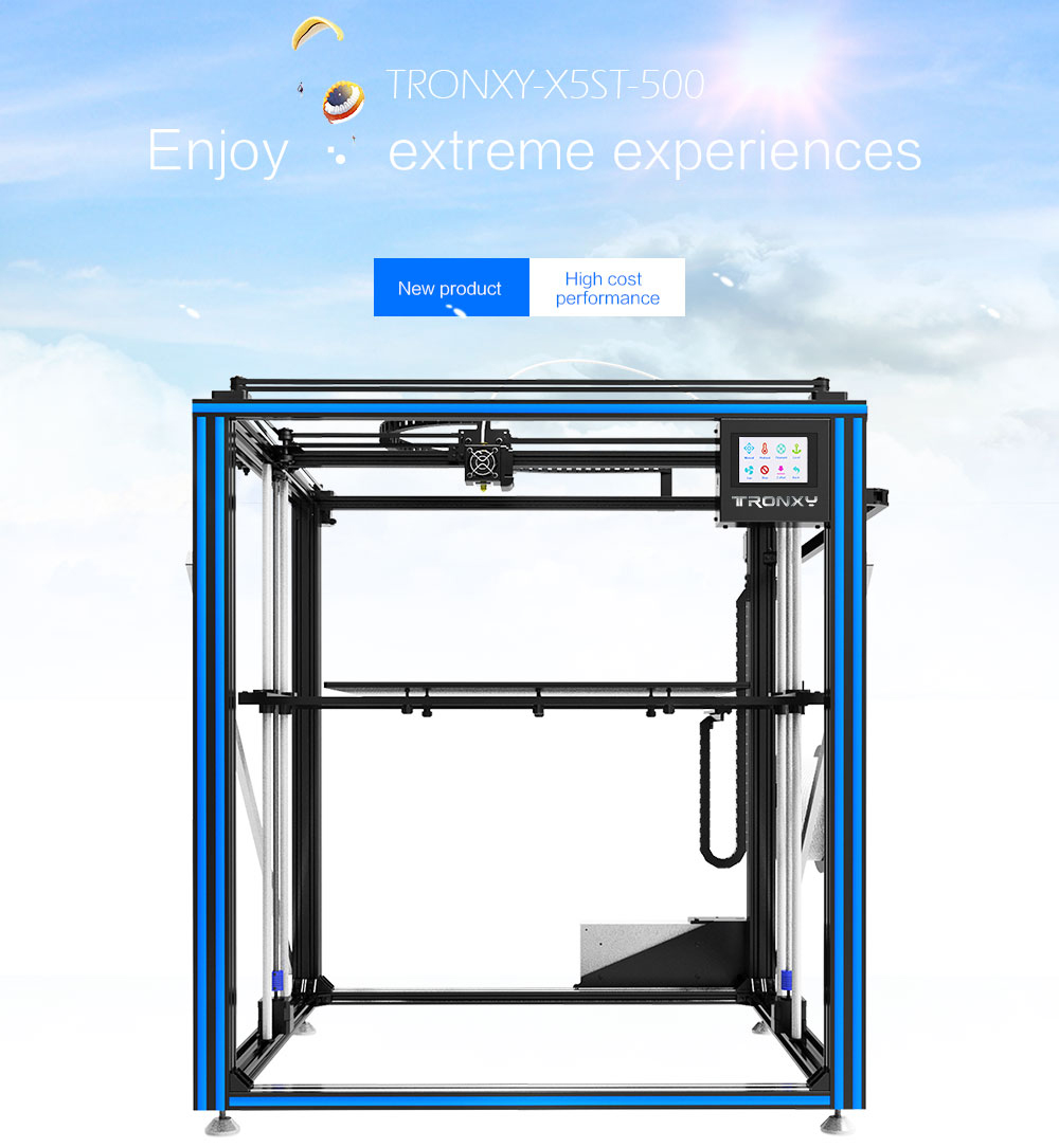 Mais novo maior impressora 3d tronxy X5ST