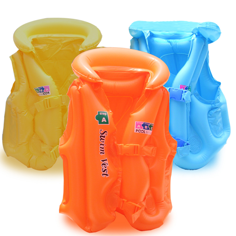 Life Vest Swimsuit Child Inflatable Pool Float For Children Kids Babies 2~6 Years Old Swimming Drifting Boating Safety Jacket Sports & Entertainment