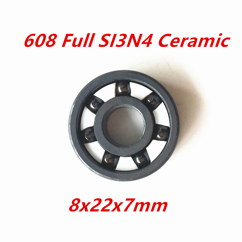 2017 Time-limited Limited Free Shipping 608 Open Full Si3n4 Zro2 Ceramic Deep Groove Ball Bearing 8x22x7mm Complent 2rs limited