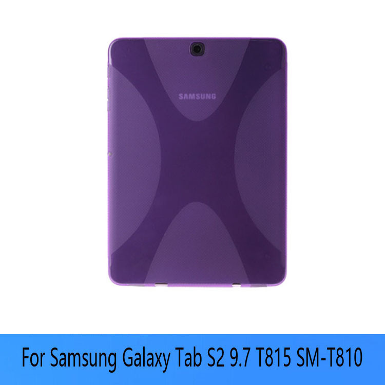 Anti-Skid X Line soft Silicone TPU Gel Case Back Cover Skin Shell for Samsung Galaxy Tab S2 9.7 T815 T810 new x line soft clear tpu case gel back cover for samsung galaxy tab s2 s 2 ii sii 8 0 tablet case t715 t710 t715c silicon case