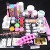 BTT 137 Pro Acrylic Powder Liquid French Nail Sticker Brush Glue Nail Art Tools Kits At