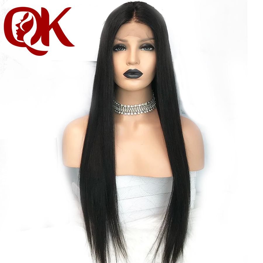 QueenKing Hair 13x6 Straight Lace Front Human Hair Wigs Brazilian Remy Hair Wigs 8 26 Pre