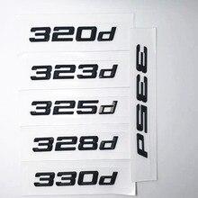 Черные значки с эмблемой 316d 320d 325d 328d 330d 335d с номером заднего Номера для BMW 3 серии E90 E46 E91 E92 E93 F30, автомобильные аксессуары
