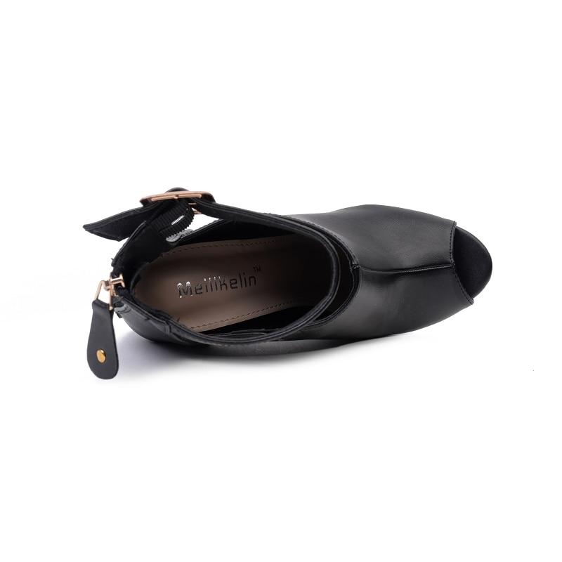 Altos Zapatos Mujeres Correa Moda Tacones De Sandalias 5 Verano 11 Bombas Femenina Dama Toe Cm 2018 Scarpins Negro Club Nocturno Peep Cuero Extremo a05U5wq