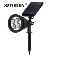 SZYOUMY New Type 4 Led solar light Outdoor Yard Garden Path Way solar Power LED Tulip Landscape Flower Lamp Lights Free Shipping