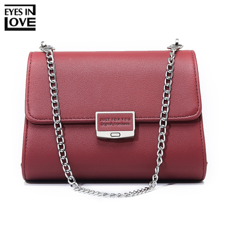 EYES IN LOVE Brand Designer Women Mini Shoulder Bag Female Purse Ladies Crossbody Messenger Bag Leather Two Chain Small Handbag lkprbd 2018 chain bag ladies handbag brand handbag authentic small crossbody bag purse designer v bolsas women