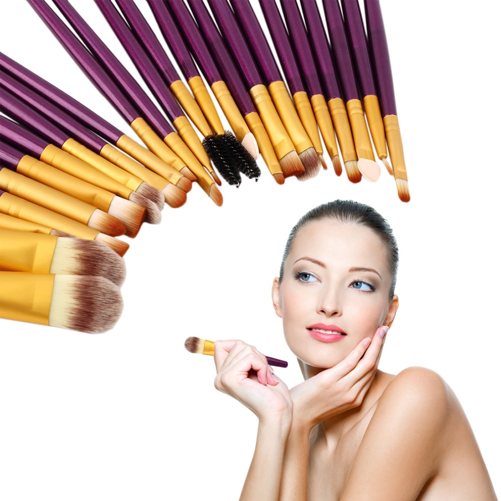 New Pro 20Pcs Superior Cosmetic Brushes Set Kit Makeup Tool Brushes skin-friendly and healthy hypoallergenic Quality