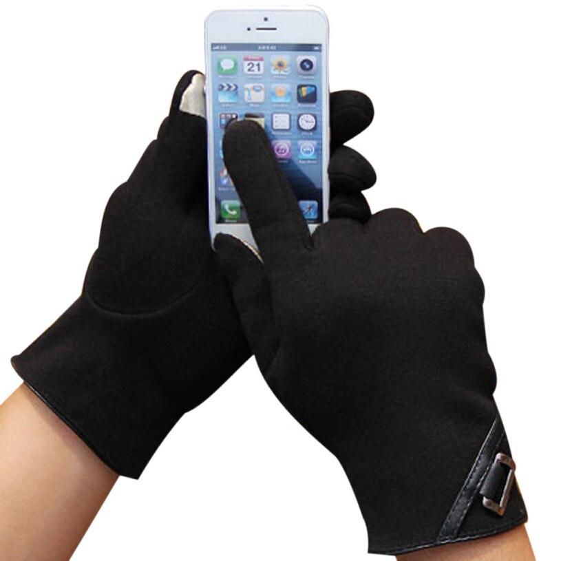 New brand 2015 Fashion Mittens Men Cotton Winter Outdoor Sport Warm Touch Screen Gloves