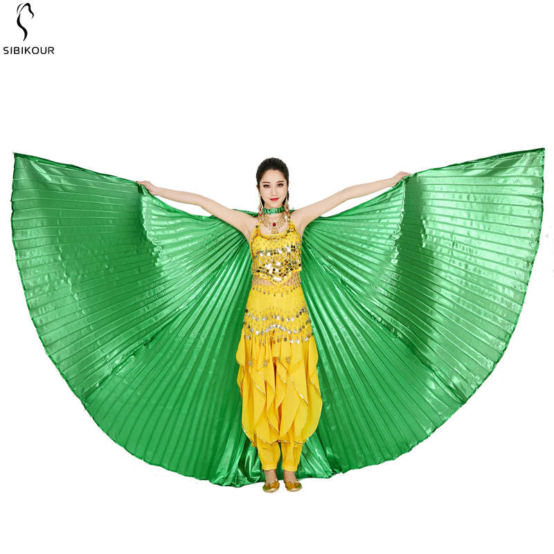 HTB10cSwbUCF3KVjSZJnq6znHFXar - Belly Dance Isis Wings Belly Dance Accessory Bollywood Oriental Egypt Egyptian Wings Costume With Sticks Adult Women Gold
