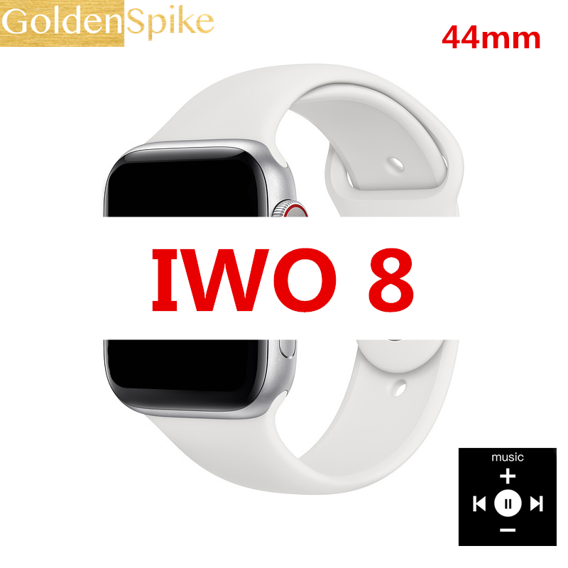 Bluetooth Smart Watch IWO 8 Heart Rate Monitor ECG Pedometer Wristwatch Fitness Tracker 1:1 Smartwatch 44mm for iOS Android