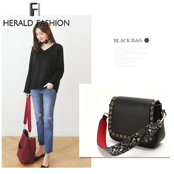 Herald Fashion Women Detachable Bag Handle Quality Replacement Bags Strap Lady's PU Leather Shoulder Bag Parts Accessories Belts
